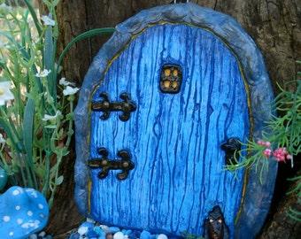 Fairy Door, Blue fairy door kit, fairy garden door, Fairy door and windows, fairy garden, Faeries, fairyland, fairy gifts, gnome door, 5013