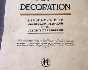 PARIS DECOR MAGAZINE 1928 Mobilier et Decoration Magazine Periodical Mid Century Art Nouveau Paris Apartment Paris France at Modern Logic