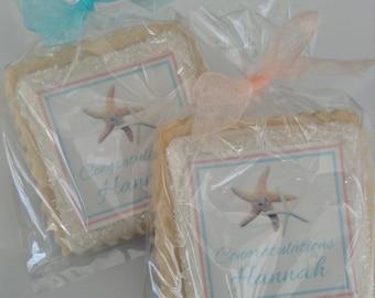 starfish beach custom cookie favors