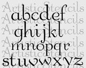 Stencil Lower Case Decorative Alphabet Set 2 Inch