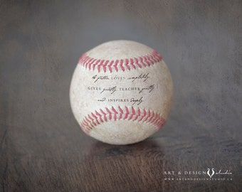 Inspirational Dad Quote, Gift for Him, Father Gift, Sports Prints, Baseball Art, Baseball Prints, Sports Decor, Dad Gifts, Unique Keepsake