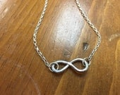 Handmade Sterling Silver Infinity Necklace