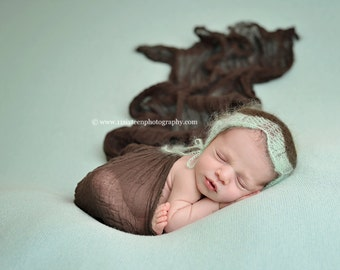 Dark Brown Cheesecloth Baby Wrap Cheese Cloth Newborn Photography