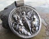 Handmade Fine Silver Horse Pendant, Goddess Of The Dawn, Fine Silver Horse Jewelry