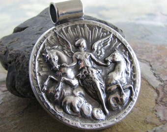 Handmade Fine Silver Horse Pendant, Goddess Of The Dawn, Fine Silver Horse Jewelry
