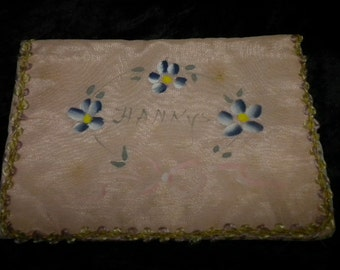 x Vintage Hanky Folder Hand-Painted circa 1940's #FF021815-13