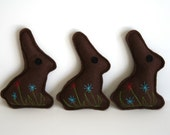 Cat Toy Catnip Chocolate Bunny- felt cat toys, Easter gift, cat gift, handmade cat toy, adorable, chocolate rabbit for cats, embroidered