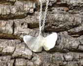 Sterling Gingko Leaf Necklace