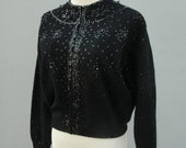 Reserved for Lisa 30% OFF SALE Vintage 1960s Lambswool Angora Black Beaded Sweater by  DRAGON House brand Made famous by Marilyn Monroe