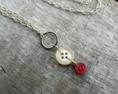 Vintage Button Necklace, upcycled recycled repurposed, buttons