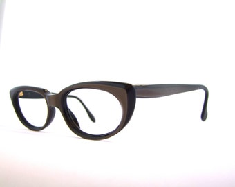 1950s Catseye eyeglasses Metzler brand Germany  Bronze Opalesessent / Pin Up