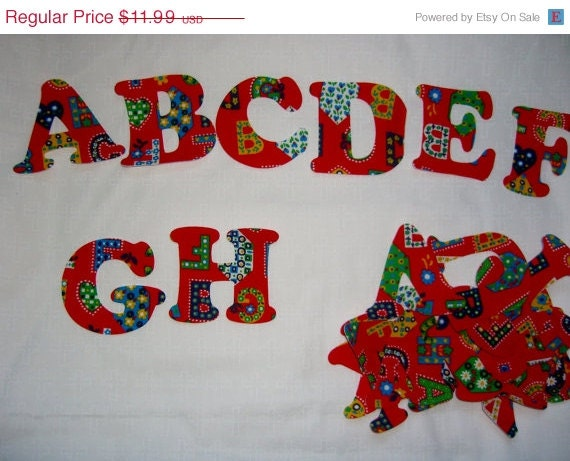 die cut fabric applique alphabet abc39s by conniesquiltfabrics With die cut fabric letters