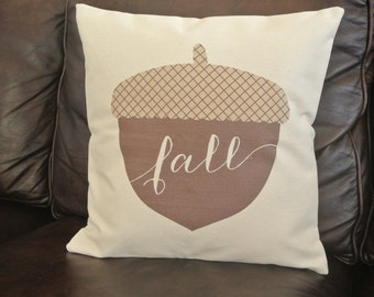 Fall Acorn Pillow Cover/ Ready to Ship