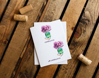 Centerpiece Notecard (greeting card, blank interior for thank you, get well, thinking of you, friendship, humor, anytime, encouragement)