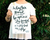 """In Any Given Moment Inspirational Quote Handlettering 11""""x17"""" Poster Print"""
