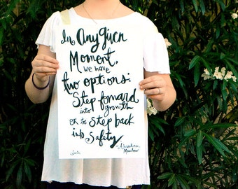 "In Any Given Moment Inspirational Quote Handlettering 11""x17"" Poster Print"