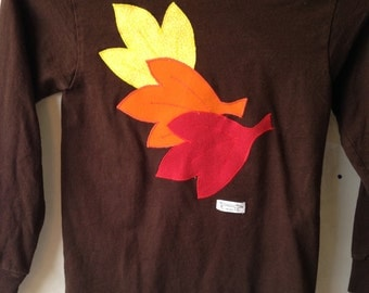 Autumn Leaves T-shirt - Size Youth 3-8