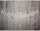 Glitter Happy Birthday Banner - 52 inches long - Happy Birthday Sign - Silver or Gold Glitter card stock, party decor - Ready to ship