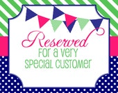 Reserved Listing for Katie