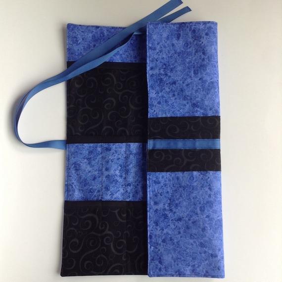 Knitting Needle Storage Roll : Blue knitting needle organizer free shipping