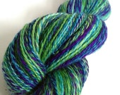 "SALE Handspun Yarn -- ""Surf and Turf"" -- 85/15 BFL / nylon -- 484 yards fingering weight"