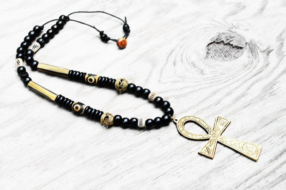 mens necklace mens jewelry ankh necklace ankh