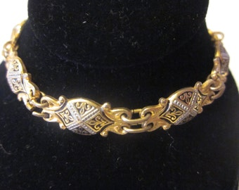X Marks The Spot - Vintage Damascene Bracelet