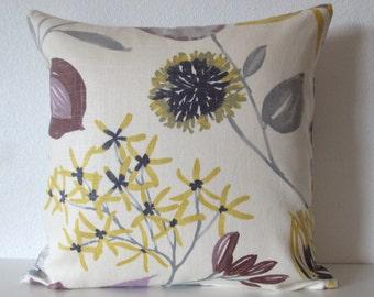 Ray of Sun Iris floral decorative throw pillow cover