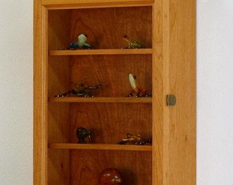 Curio Cabinet-Cherry Hardwood