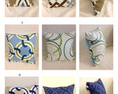 "12"" Fun Duralee Print Pillow Covers, Reversible - Sample Sale"