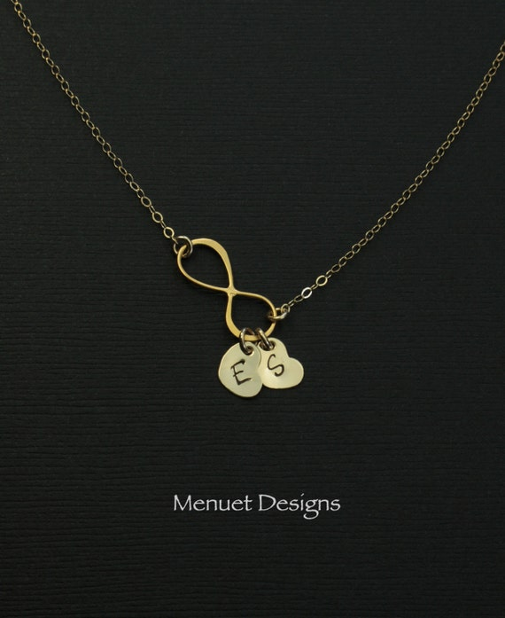 Personalized Gold Infinity Necklace Initial Heart by ...