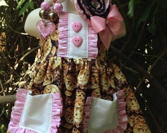 Custom Boutique Cookies & Milk Dress