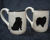 Reserved for Ann O. - Pomeranian Mugs