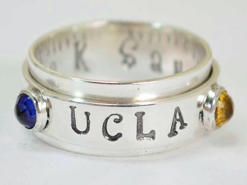 class ring personalized spinner ring gemstone spinning