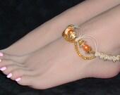 Hemp Anklet GoldenPearl