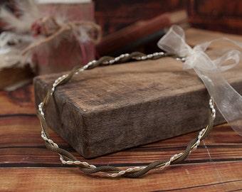 STEFANA Wedding Crowns-Orthodox Stefana - Bridal Crowns PHOEBUS antique