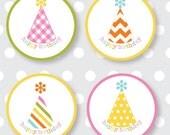 Happy Birthday Labels multicolor