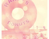 Randys donuts, Los Angeles architecture, Inglewood, travel photography, LA landmark, food, doughnuts, dessert, kitchen, pink decor
