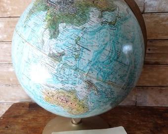 Vintage World Globe Reploge  1950s or 1960's
