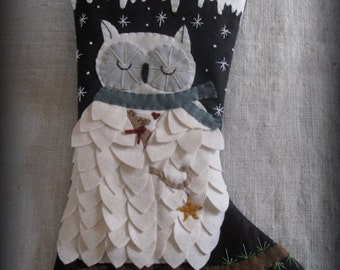 Silent Night Christmas Stocking KIT by cheswickcompany