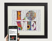 Love music video, Thinking Out Loud / Ed Sheeran or personalized message - Valentine's day gift, anniversary gift, QR code song lyric print