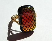 Dichroic Glass Ring...