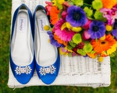 Wedding Shoe - Flat Wedding Shoe - Wide Size Wedding Shoe  Blue Flats Blue Wedding Shoe -Custom Wedding Flats Wedding Shoe Flats 200 Colors