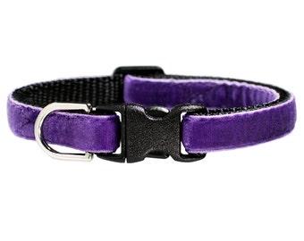 "Cat Collar - ""The Soulmate"" - Purple Velvet"