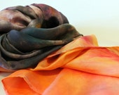 Hobbit Inspired Scarf - In the Company of Dwarves - Hand Dyed Silk Scarf or Waldorf Playsilk