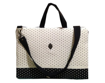 """15"""" Macbook or Laptop bag with handles and detachable shoulder strap-Ready to ship"""