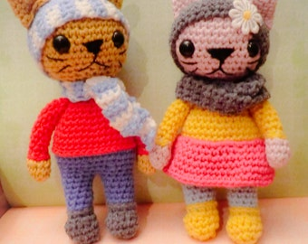 amigurumi humanoid cats crochet pattern