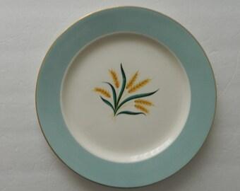International D S Co Alliance Ohio Viking Wheat Pattern 1 Dinner Plate Turquoise