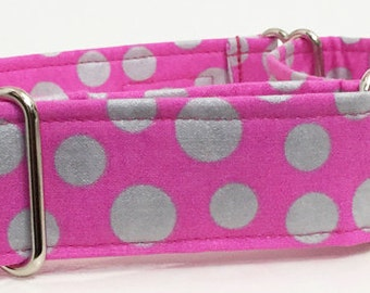 Polka Dot Adjustable Martingale Dog Collar - Made to Order -