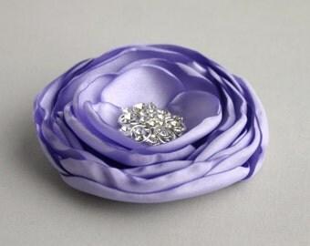 Light Purple Flower Hair Clip, Flower Girl, Lavender Wedding Hair Accessory, Lilac Flower Hair Piece, Purple Bridesmaid Flower, Flower Girl